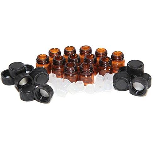 Wc Reducer (sunnymi Küche  12 Stück 1 ml Bernstein ätherisches Öl Flasche mit Orifice Reducer und Kappe (Braun, 1/24 ounce, 1.1 ml))