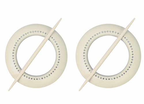 2 x (2 er SET) Moderne RAFFHALTER mit tollen funkelnden Strasssteinen ( mehrere Farben zur AUSWAHL) – NEU