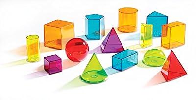 Learning Resources LER4331 - Formas geométricas de plástico transparentes, varios colores de Learning Resources