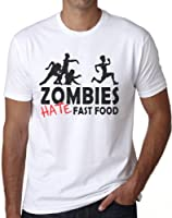 OM3 - ZOMBIES HATE FAST FOOD II - T-Shirt HORROR HALLOWEEN MORTS VIVANTS SANG MONSTER, S - 5XL