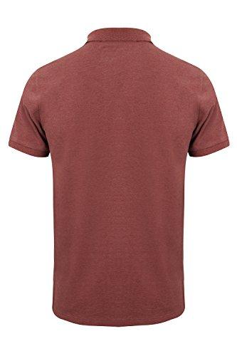 Tokyo Laundry Herren Blusen Poloshirt, Einfarbig blau blau Small Bordeaux Marl - Red