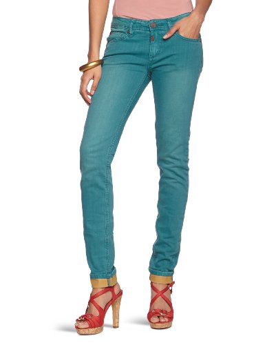 Timezone Damen Jeans Normaler Bund, Slatina push-up pants 16-5198 Blau (petrol 3195)