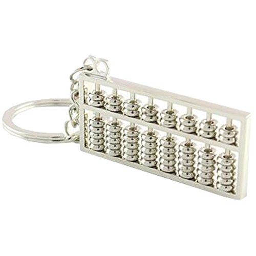 Feuerzeug-schlüssel-halter (Durable Abacus Keychain Auto-Schlüssel-Halter-Anhänger Schlüsselanhänger Silber)
