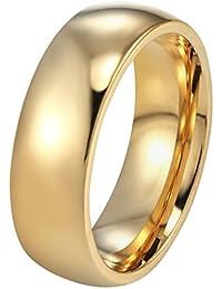 PROSTEEL - 6mm Anillo Clásico del Estilo Sencillo de Acero Inoxidable para Hombre y Mujer Anillo de Matrimonio Anillo de Compromiso Talla 9.5-30
