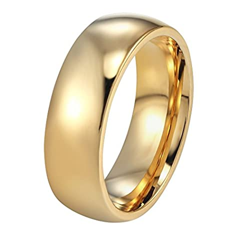 PROSTEEL Edelstahl Herren Ring, Hochglanzpoliert 6mm Breite Ring Klassischer Ehering