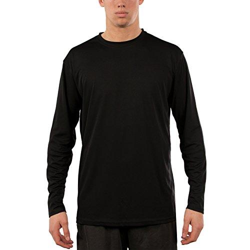 Vapor Apparel Herren UPF 50+ UV Sonnenschutz Langarm Performance T-Shirt XXX-L Schwarz