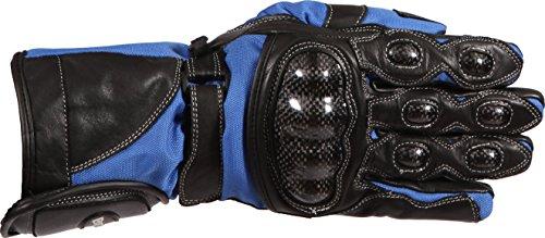 Buffalo BGSTOR184SM-Guanti da moto, taglia S, colore: nero/blu