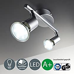 B.K.Licht 30-01-02-T iluminación de techo - Lámpara, 3 vatios