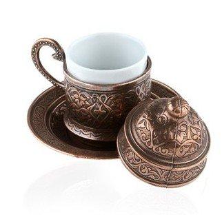 The Turkish Emporium Kupfer-Tasse für Espresso/türkischen Kaffee