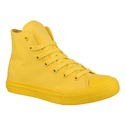 Elara, scarpe da ginnastica unisex, comode, per uomo e donna, Giallo (All Yellow), 43 EU