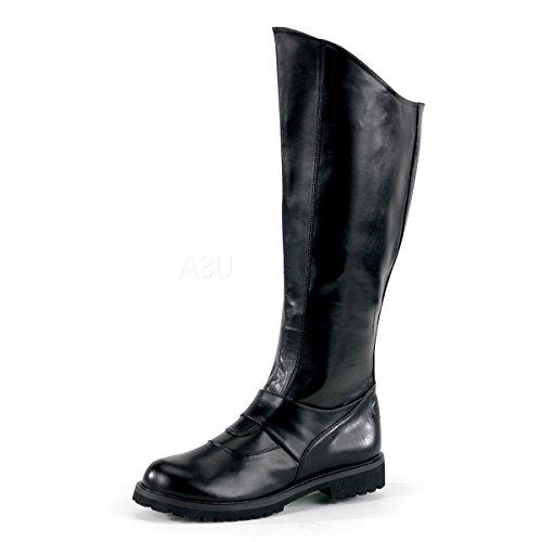 -Stiefel Gotham-100 mattschwarz Gr. 43,5 bis 45 (Superhelden Stiefel)