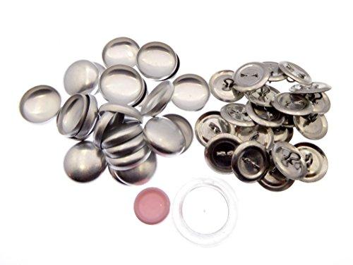 50 Stück Knopfrohlinge mit Öse Ø 19mm mit Tool