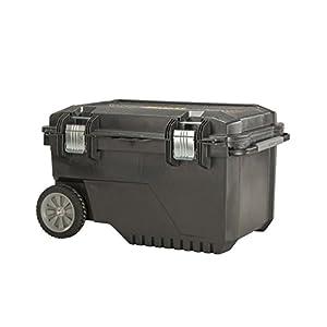 Stanley FatMax Mobile Werkzeugbox / Werkzeugbehälter (52.5x75x45cm, Koffer mit hohem Volumen 90 Liter, Kunststoffbox mit Vertiefung im Deckel, Metallverstrebungen) FMST1-73601