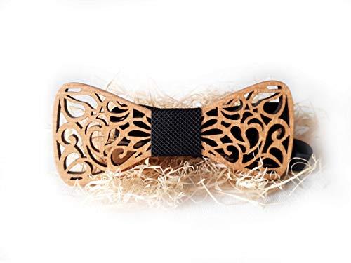 SetProducts [ GARANTIERT EFFEKT ! ] ⭐️ Handgefertigte Hölzfliege   Schicker Look - Hochzeiten, Zeremonien, sei oben !   Weitere Farben und Modelen erhältlich   Größenverstellbar (Braun 89)