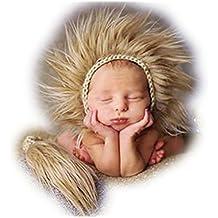 Bebé recién nacido fotografía apoyos niño Niña Gorro de Crochet ... 8f6c38ff548