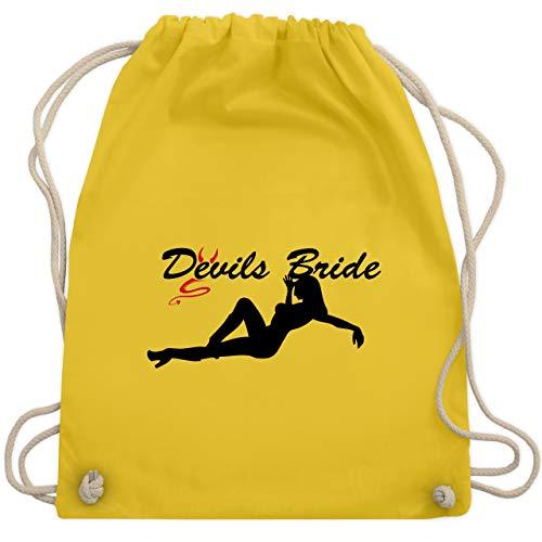 JGA Junggesellinnenabschied - Devils Bride - Unisize - Gelb - WM110 - Turnbeutel & Gym ()