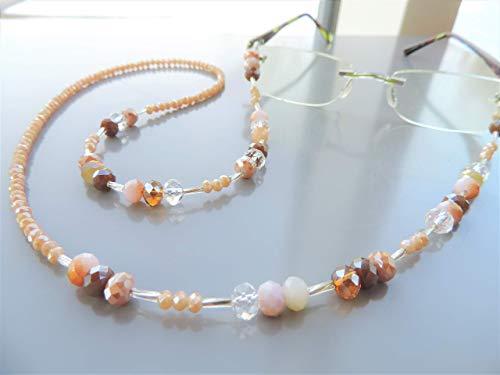 Brillenkette in nude/apricot