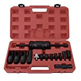 14pcs Practical Pull In Fuel Common Rail Injector Puller Extractor Set Slide Hammer Removal Tool Kit With Carry Case