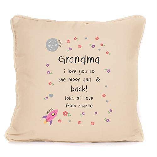 Personalised Pillow Gift For Grandma I Love You To The