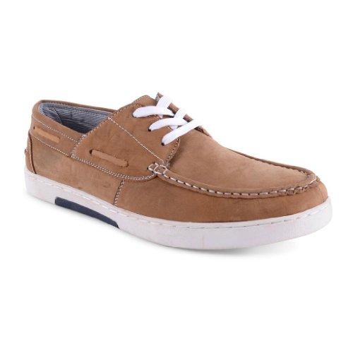Footwear Sensation , Herren Sneaker Tan Boat Shoes