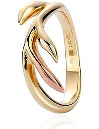 Clogau Women 9ct (375) 2 Colour Gold Ring - Size O TLEDR/O