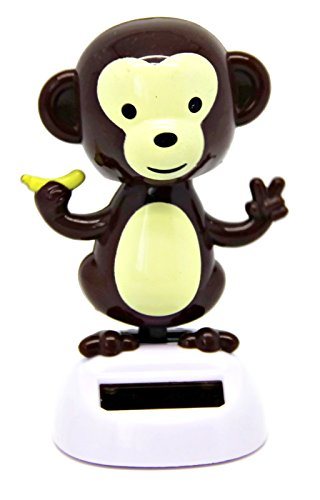 Bada Bing Solar Wackel Figur Lustiger Affe mit Banane Monkey Tier Zoo