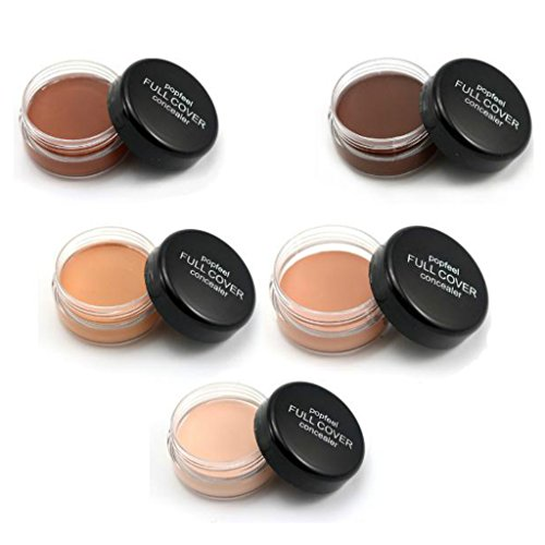 Segolike New 5pcs Face Eye Cream Concealer Foundation Contour Corrector Dark Circles Acne Scars Full Cover Makeup Palette Set