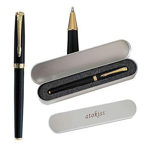 Klassisches Design-Metall-Roller Pen-Set mit 1 Minen (0,5 mm), Kugelschreiber, Kugelschreiber, Geschenkverpackung, Geschenkstift für Signature Executive Business, Männer, Frauen