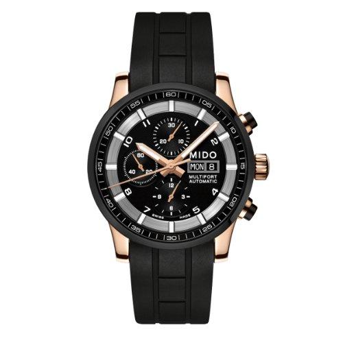 Mido Herren-Armbanduhr XL Multifort Chronograph Automatik Kautschuk M0056143705709