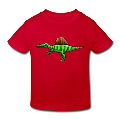 Spreadshirt Spinosaurus Kinder Bio-T-Shirt, 110/116 (5-6 Jahre), Rot