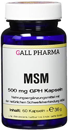 Gall Pharma MSM 500 mg GPH Kapseln, 1er Pack (1 x 35 g)