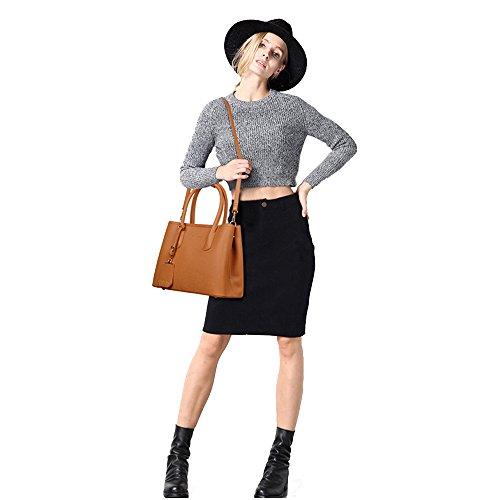 MZStech Damen-Art und Weise Designe Berühmtheits-Einkaufstasche Frauen heiße verkaufende modische Handtasche Schultertasche (Lila) Dunkelgelb