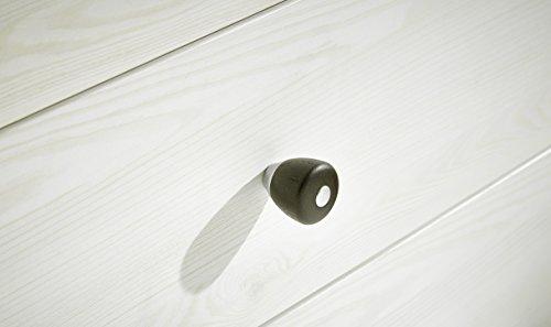 Peter ANLL711022 Highboard Sideboard Kommode Schrank Anrichte Mehrzweckschrank, Holz, weiß, 40.0 x 178.0 x 130.0 cm - 2