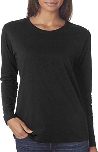 Gildan Heavy Cotton T-Shirt Long Sleeve 5,3 Unzen Schwarz