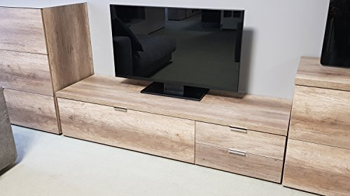 Lowboard Cleo 12 TV Board Wildeiche 1 Klappe 2 Schubkästen Von CS Schmal