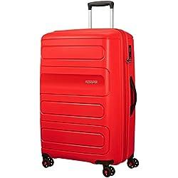 American Tourister Sunside Spinner 77 Expandible, 4.5 KG, 106/118L, Sunset Rojo