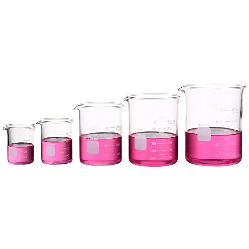 Borosilikatglas Bechergläser Set Becherglas mit klare Ausguss 50ml 100ml 250ml 400ml 600ml Meßbecher
