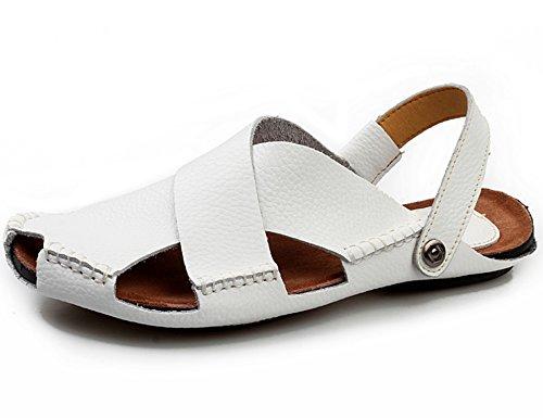 LEDA Sandales d'été Hommes, Pantoufles de Piscine, Sandales Anti-Dérapantes, Pantoufles Portables