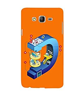 Fuson Designer Phone Back Case Cover Samsung Galaxy On5 Pro (2015) :: Samsung Galaxy On 5 Pro (2015) ( Differnt Levels In Letter D )