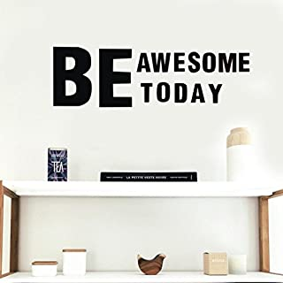 SMILEQ Lovely Quotes Be Awesome Today Removable Art Vinyl Mural Home Room Decor Wall Stickers (A)