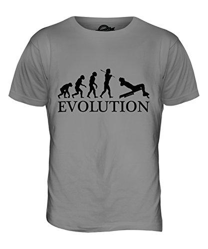 CandyMix Sit-Up Evolution Des Menschen Herren T Shirt Hellgrau