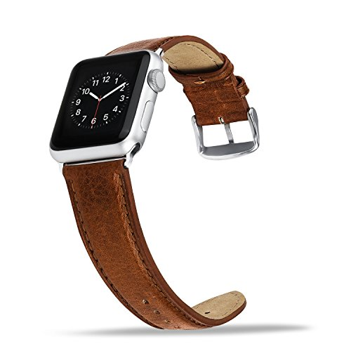 41aZcxSwyVL - [Amazon.de] Benuo Echtes Leder Armband für alle Apple Watches mit 42mm nur 10,79€ statt 17,99€