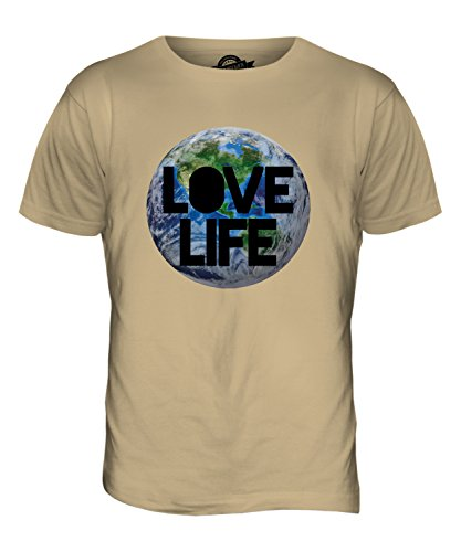 CandyMix Liebe Leben Erde Herren T Shirt Sand