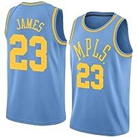 VICTOREM Lebron James #23 Maglia da Basket per Uomo - NBA Lakers Jersey, Nuovo Tessuto Ricamato Camicia T-Shirt Sportive Swingman (S-XXL)