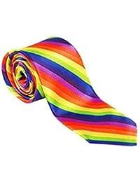 2 X Retro Rainbow Skinny Tie Gay Pride