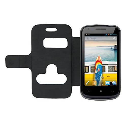 Acm Caller Id Case For Micromax Bolt A46 Mobile Table Talk Flip Cover Stand - Black