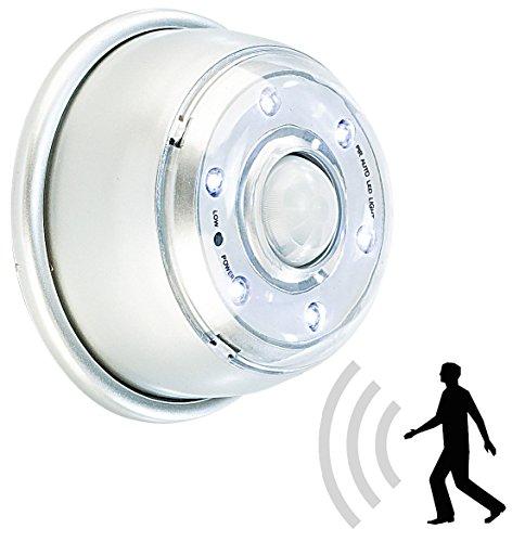 Lunartec Licht Bewegungsmelder: LED Innen- & Außenlicht mit PIR-Sensor & Magnethalterung, IP44, 100 lm (LED Nachtlicht - Licht Sensor Garage