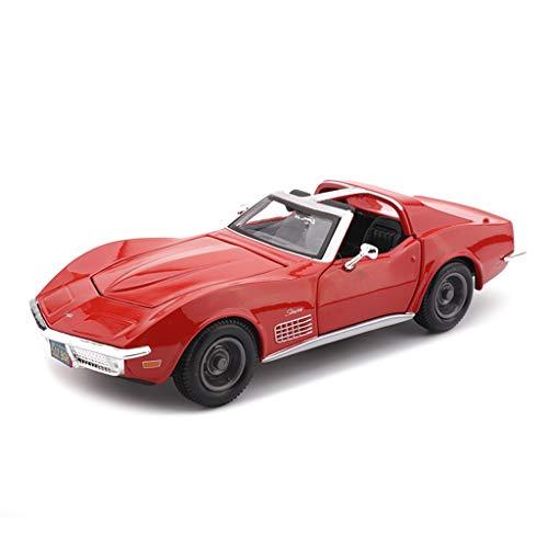SXET-Auto modello Model Car Alloy Model Car Corvette 1970 Simulazione Modello di Auto 1:24 Modello di Auto d'Epoca Collezione di Modelli Model Car