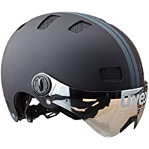 Uvex City V - Casco de ciclismo unisex, color negro mate, talla 55-58