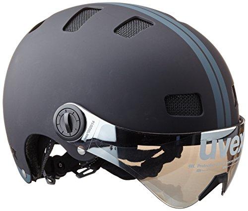 Uvex Fahrradhelm City V, Black Mat, 58-61, 4101890219